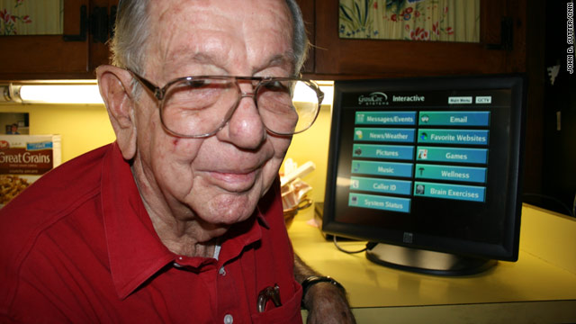 Robert Jennings, 86, has a system in his home that monitors his movements and activities.
