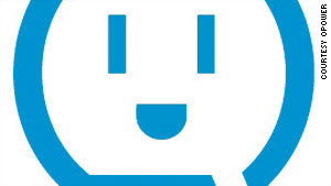 OPOWER's friendly logo is meant to encourage people to use less energy -- and save money.