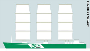 B9 expects its 100% carbon-neutral trading ship to be in production by 2012.
