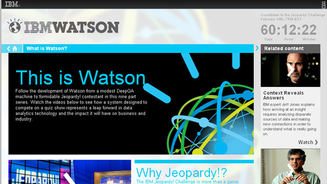 Researchers say four years went into preparing Watson, a computer program, to compete against &quot;Jeopardy&quot; champions.