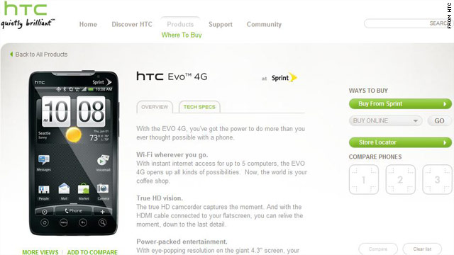 HTC EVO 4G is already sold out after recently being released.