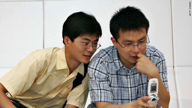 Content that might not be viewed on the normal Internet in China can be seen on mobile devices.
