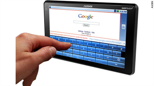Kmart advertised a seven-inch tablet by Augen running the Android operating system. The GenTouch78 is on sale for $149.99.