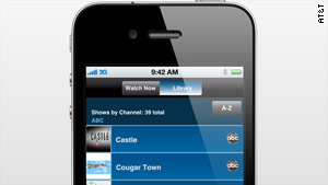 A new AT&T app lets iPhone users download and watch TV shows.