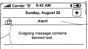 An Apple patent shows how an anti-sexting application might block messages on the iPhone.