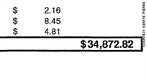Kerfye Pierre got this mobile phone bill earlier this year. She says T-Mobile forgave all but about $5,000 of the charges.