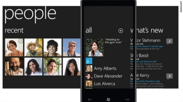 Every aspect of Windows Phone 7 is geared to social networks: phone, contacts, gaming, photos, even Office.