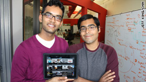 Akshay Kothari, left, and Ankit Gupta created the Pulse news app for the iPad and other devices.