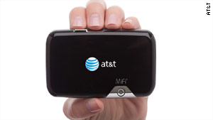 AT&T unveiled its first MiFi gadget on Wednesday, joining Verizon Wireless and Sprint.