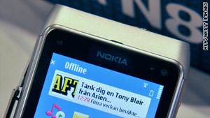 Nokia's N8 smartphone has a new version of Symbian and the Ovi Store for apps.