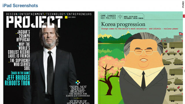 "The first issue of ""Project"" includes a profile of ""Tron"" actor Jeff Bridges and a look at politics in North Korea."