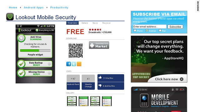 A mobile security app was used to help catch a carjacker, shining a light on mobile security.