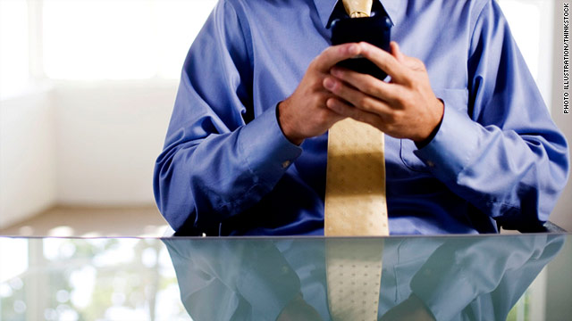 The increasing use of smartphones to do work is blurring the line between work and home life, a survey says.