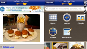 With the new Urbanspoon, you can take a picture of your meal and upload it, then write a recommendation.