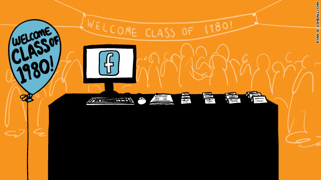 Facebook networks encourage many people to attend school reunions but may dissuade others.