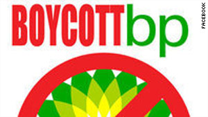 This boycott logo can be found on the Facebook page that was temporarily disabled Monday.