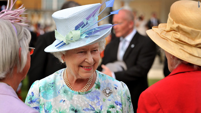 Queen Elizabeth II, pictured here at a Buckingham Palace garden party last week, is launching a Flickr photostream.