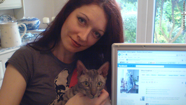 Kirsty Worrall created a Facebook account for her cat to keep friends and family up to date on Shiva's progress.