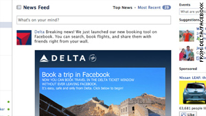 "Delta's Facebook page now has the ""Ticket Window,"" allowing users to book travel entirely through Facebook."