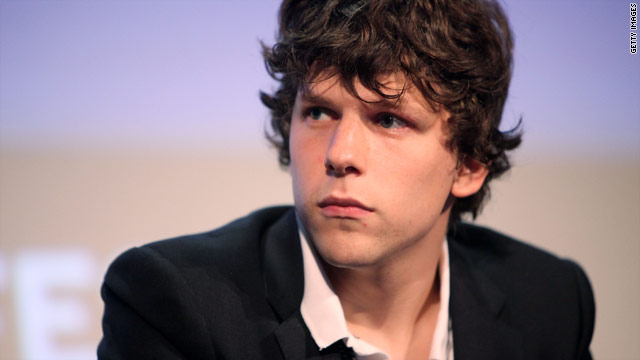 "Jesse Eisenberg starred as Facebook founder Mark Zuckerberg in ""The Social Network."""