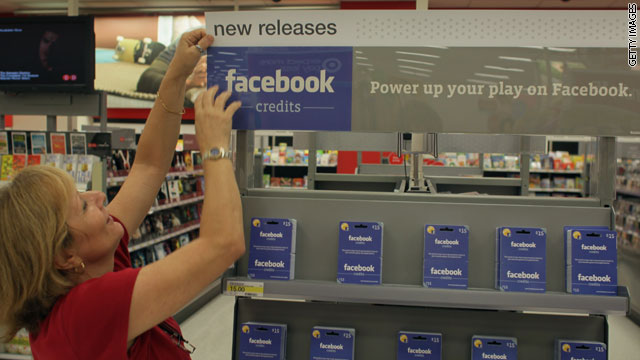 Facebook Credits can be purchased at stores like Target. But now customers can buy them in small increments with PayPal.