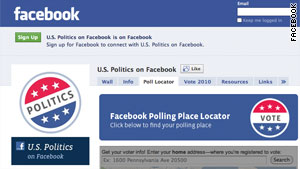 Facebook is among many popular websites that are encouraging Americans to vote Tuesday.
