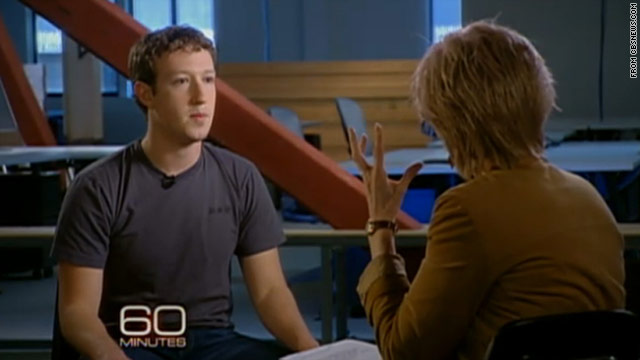 Facebook CEO Mark Zuckerberg gave an interview to CBS News on Sunday.