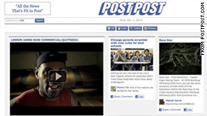 PostPost takes your Facebook news feed and presents it in a newspaper-like layout.