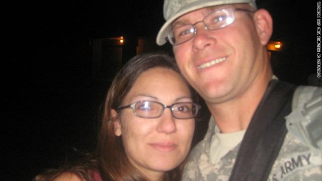 Melanie McNicol says Facebook updates from husband Jim's unit help give her peace of mind while he's in Afghanistan.