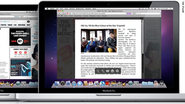 "The new version of Safari incorporates a ""reader"" button, which simplifies online news articles."