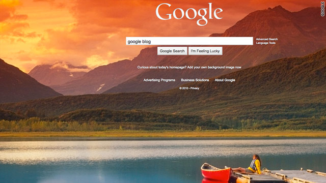 Images are scheduled to appear as default backgrounds on Google through Friday morning.