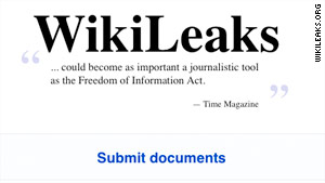WikiLeaks is known for posting classified documents and video on its website.