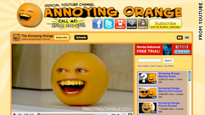 "The ""Annoying Orange"" web series has gotten more than 137 million views."