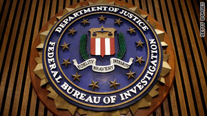 The FBI's seal, shown here in a photograph, is the subject of a legal dispute between the bureau and Wikipedia.