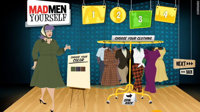 "AMC has revived its popular ""Mad Men Yourself"" app that lets users create retro-looking cartoon avatars."