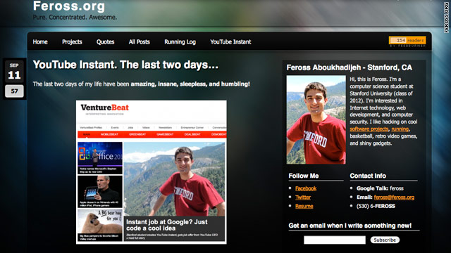Feross Aboukhadijeh's personal website chronicles his last couple days in the media spotlight.