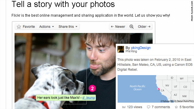 Flickr is a photo-sharing site known for letting people organize and tag photos online.