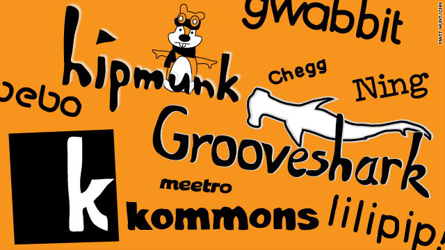Companies like Hipmunk, Kommons and Grooveshark chose unconvential names for their startups.