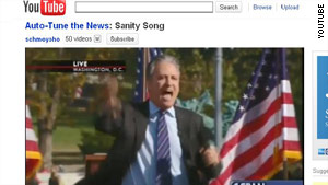"""Comedian Jon Stewart's """"Sanity Song"""" is the Gregory Brothers' latest online Auto-Tuning."""