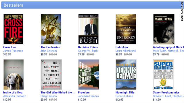 Google launched an online bookstore on Monday.