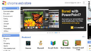 The Google Chrome Web Store, introduced on Tuesday, features free and paid apps for the browser.