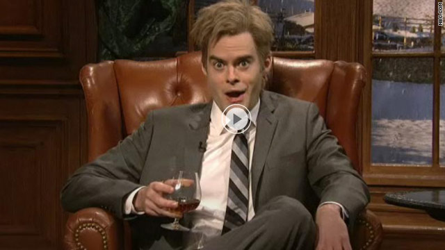 """SNL's"" Bill Hader as Julian Assange, complaining that he, not Mark Zuckerberg, should have been Time's Person of the Year."