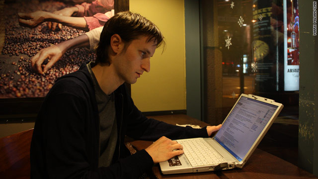 Brian Kennish traded his job at Google for a table at Starbucks, where he works on his privacy software called Disconnect.