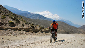 Adventurer cycles Himalayas for charity