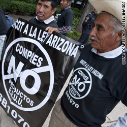Portions of an Arizona immigration law go into effect Thursday -- after a federal judge granted an injunction that blocked the most controversial parts of it.
