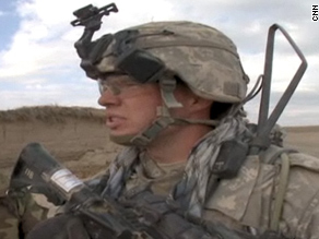 U.S. Army Cpt. Brandon Anderson on patrol in Afghanistan