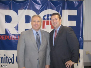 Jim Greer (left) stepped down as chairman of the Republican Party of Florida in February.