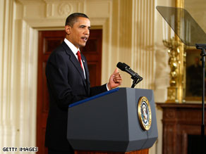 Americans are giving Barack Obama a split decision on his first year in office, according to a new national poll.