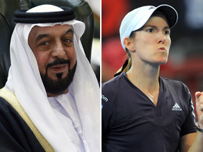 Can you connect President Sheikh Khalifa to Justine Henin.