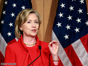 Secretary of State Hillary Clinton arrived in Chile on Tuesday and pledged U.S. commitment to the country.
